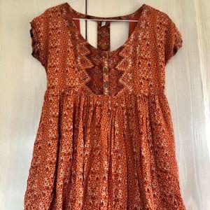 Free People mini babydoll dress